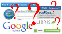 Ebsco-databaserna: SportDiscus, Eric, PsycInfo